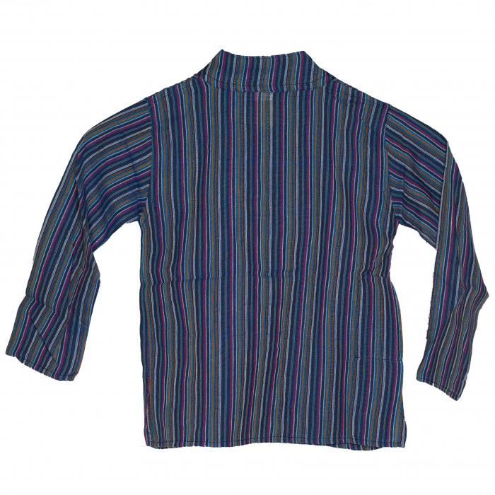 Camasa copii maneca lunga din bumbac albastra - Bufnita M4 1
