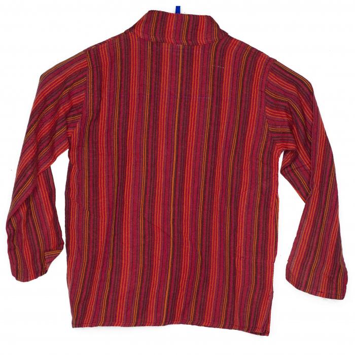 Camasa copii maneca lunga din bumbac rosie - Porcusor M1 1