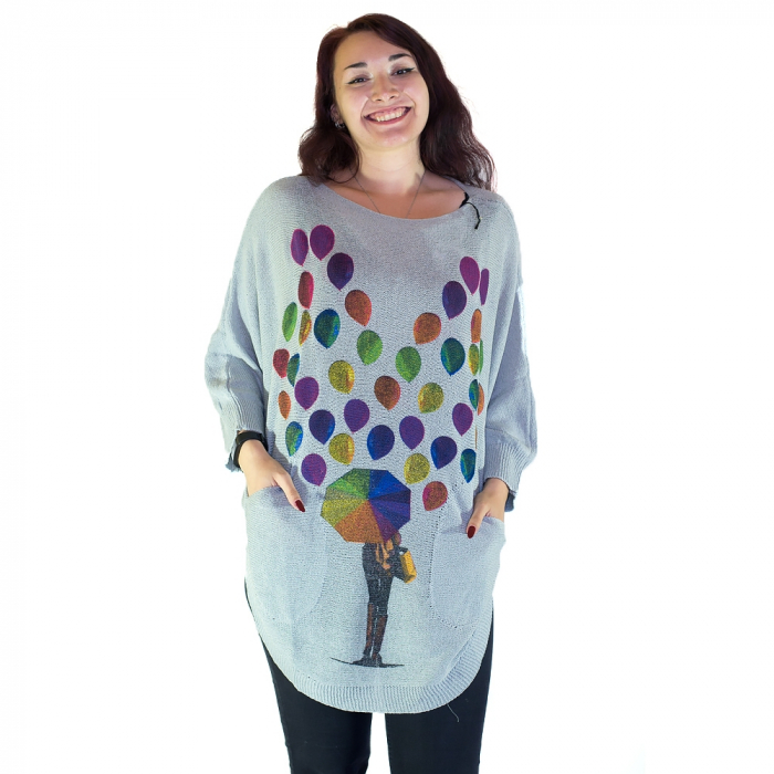 Cardigan femei – toamna multicolora 0
