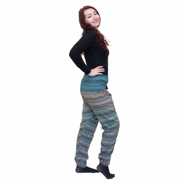 Pantaloni tip salvari Blue 1