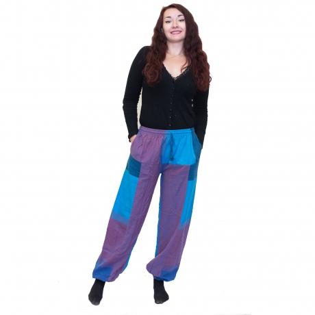 Pantaloni albastru cu mov 0
