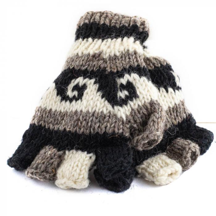 Manusi de lana fingerless - Dark tones 0