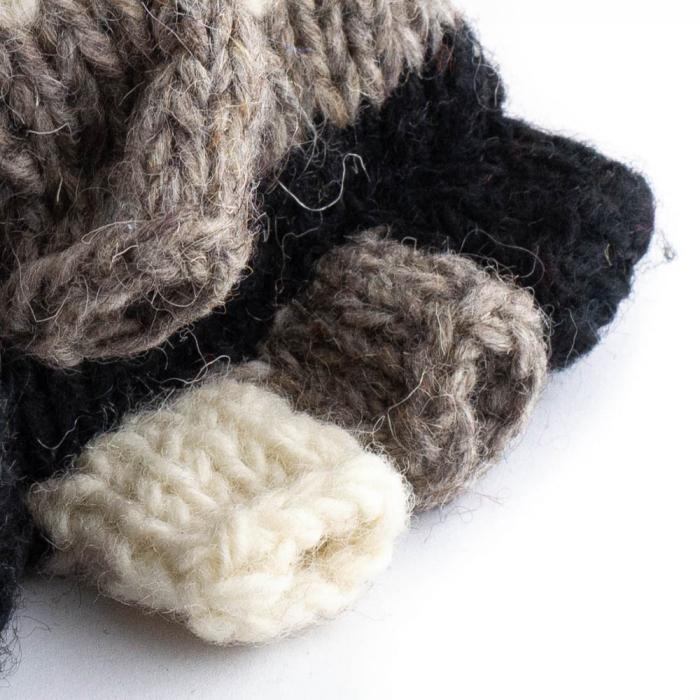 Manusi de lana fingerless - Dark tones 1