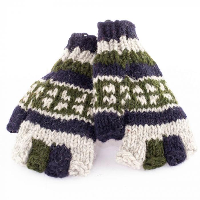 Manusi de lana fingerless - Earthy colors 0
