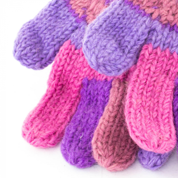 Manusi de lana - Purples 1