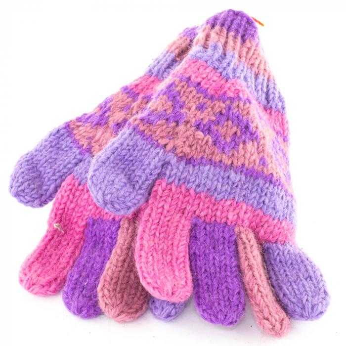Manusi de lana - Purples 0