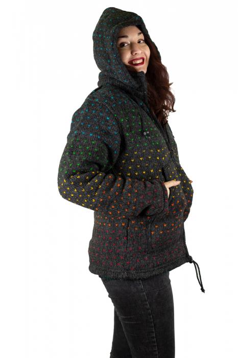 Jacheta de Lana - Rainbow Dots 4