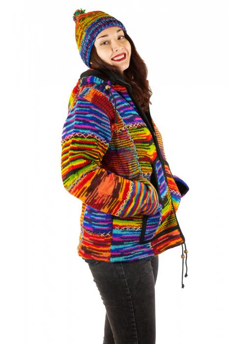 Jacheta de lana - Color Bits 1