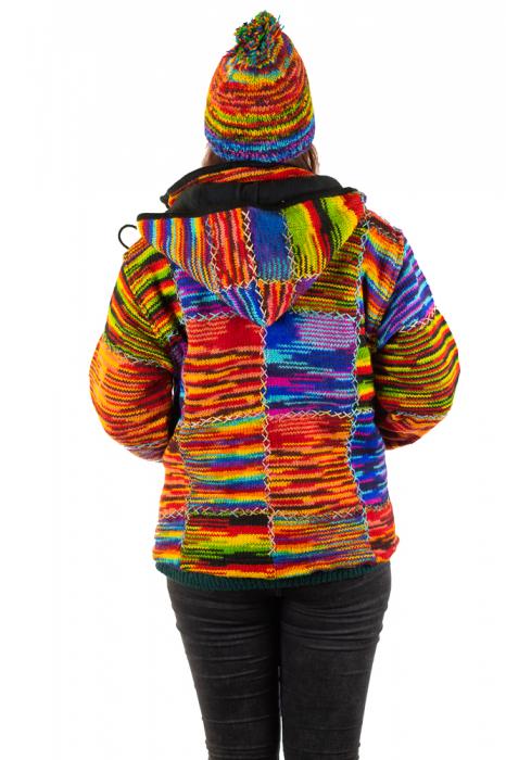 Jacheta de lana - Color Bits 2