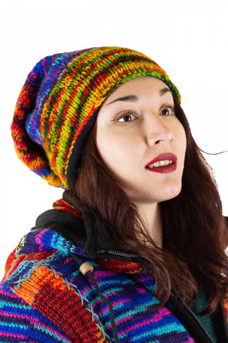 Caciula lunga din lana - Rasta Rainbow 0