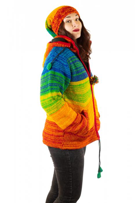 Jacheta din lana cu buzunare si captuseala polar- RAINBOW 4