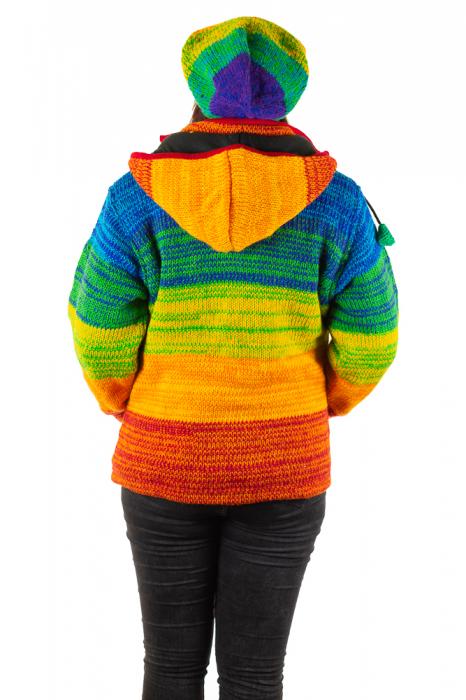 Jacheta din lana cu buzunare si captuseala polar- RAINBOW 5