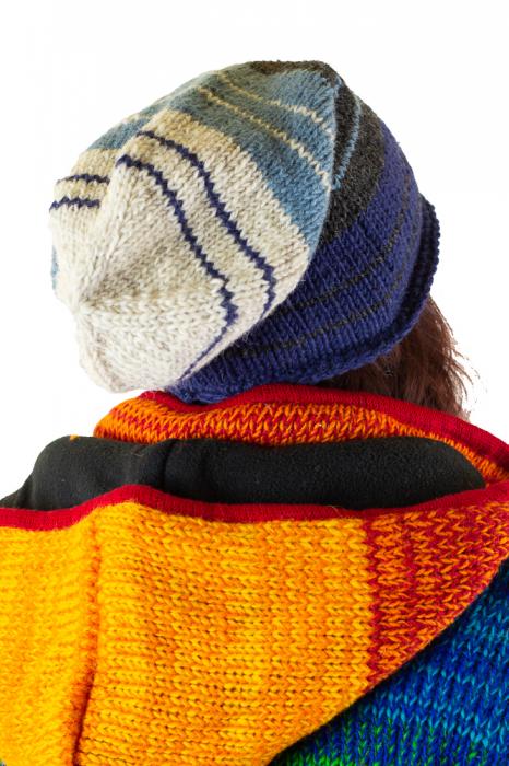 Caciula lunga din lana - Blue Lines 1