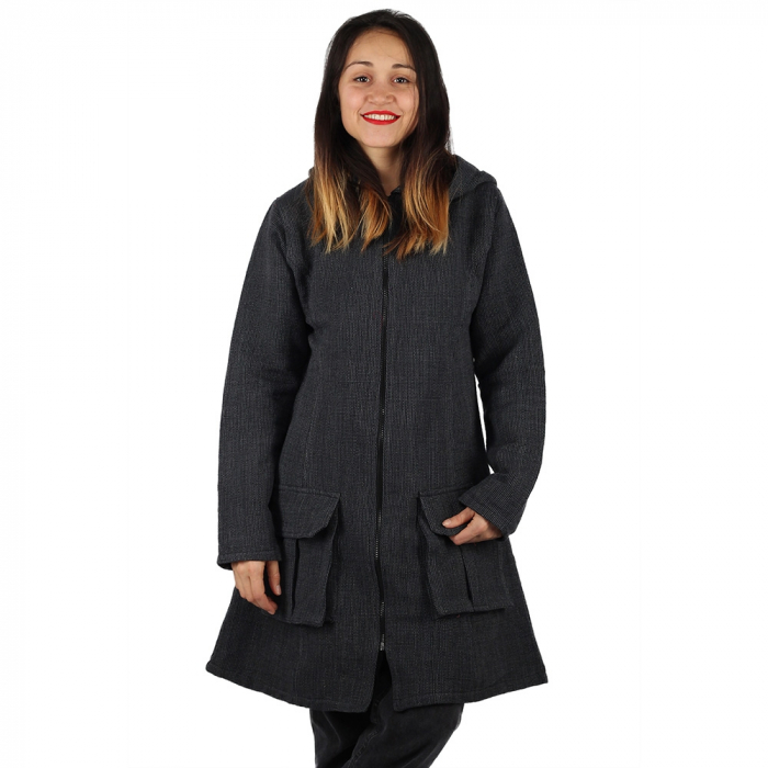 Jacheta din bumbac - GRI INCHIS 2