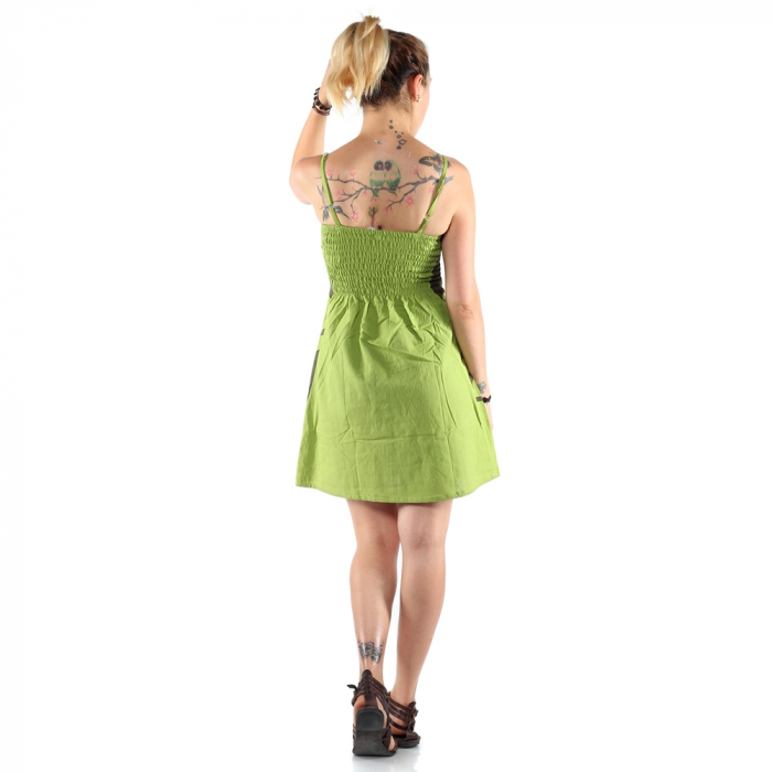 Rochie din bumbac - LIME [2]