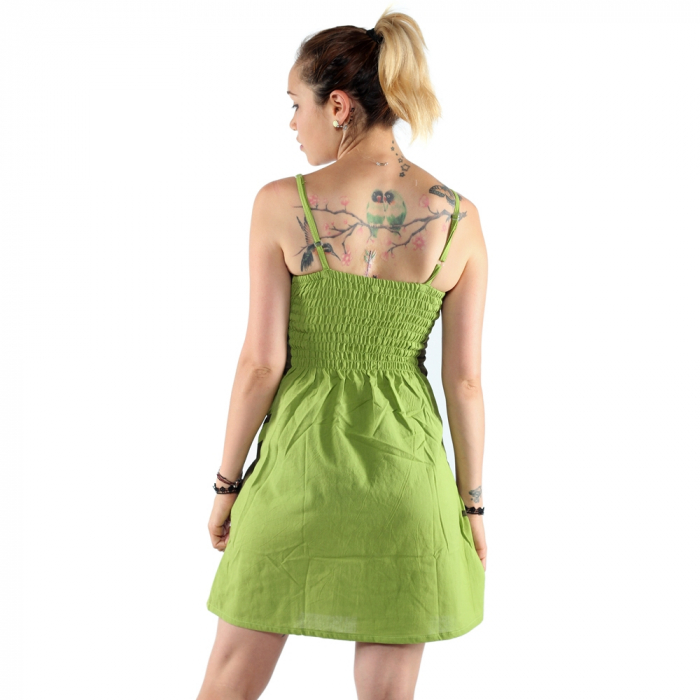 Rochie din bumbac - LIME [3]