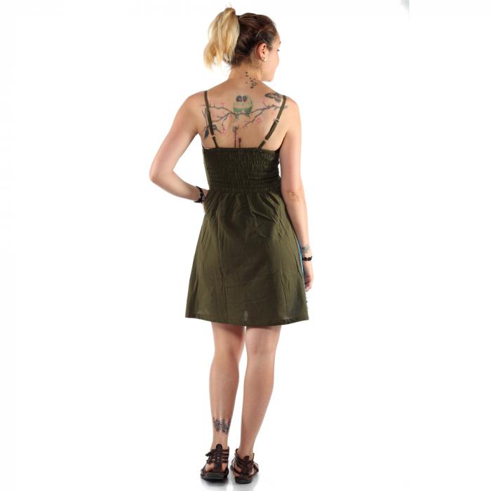 Rochie din bumbac verde - VIS 1