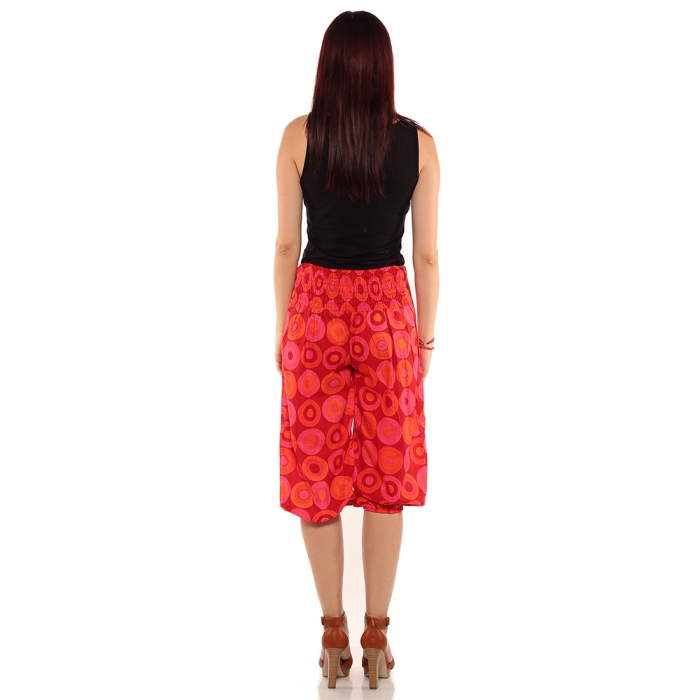 Pantaloni 3/4 psihedelic - ROSU 2