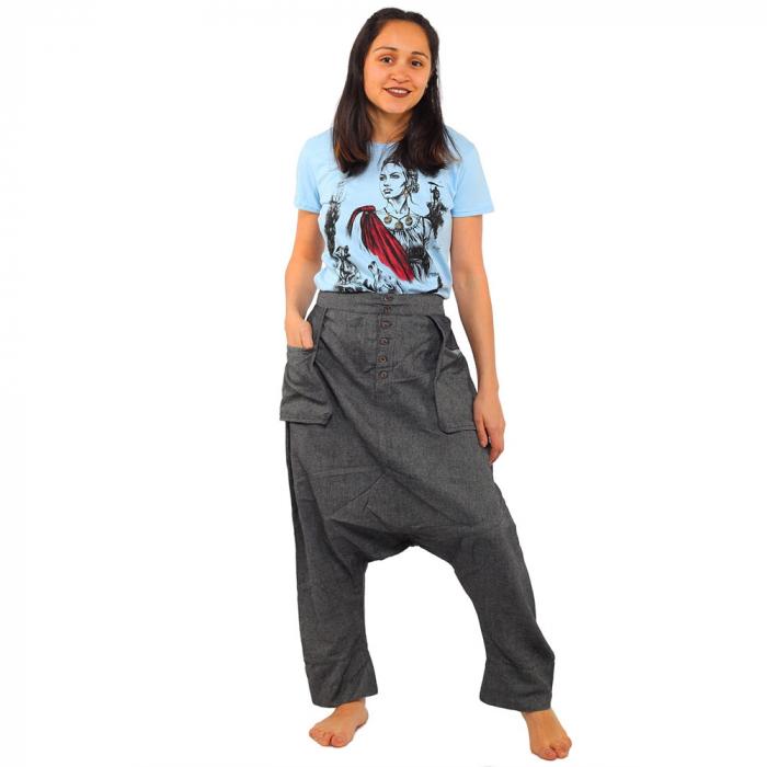 Pantaloni tip salvari - GREY 0