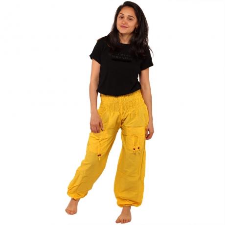 Pantaloni tip salvari - GALBEN 0