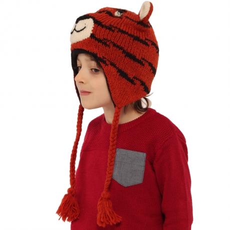 Căciulă din lână copii - TIGRU 1