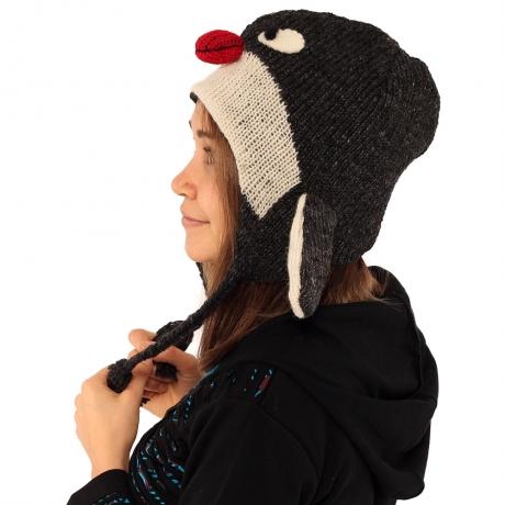 Căciula din lână copii - PINGUIN 1