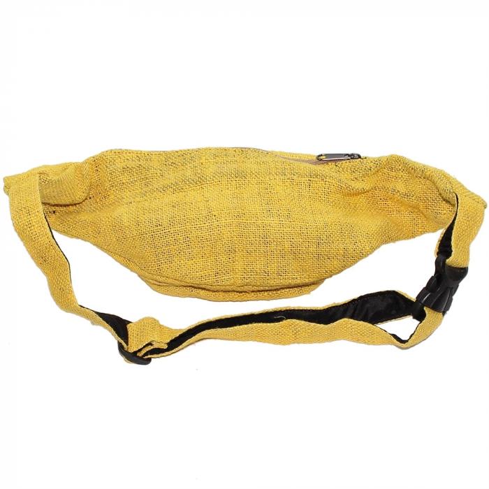 Borseta din canepa -Yellow 2