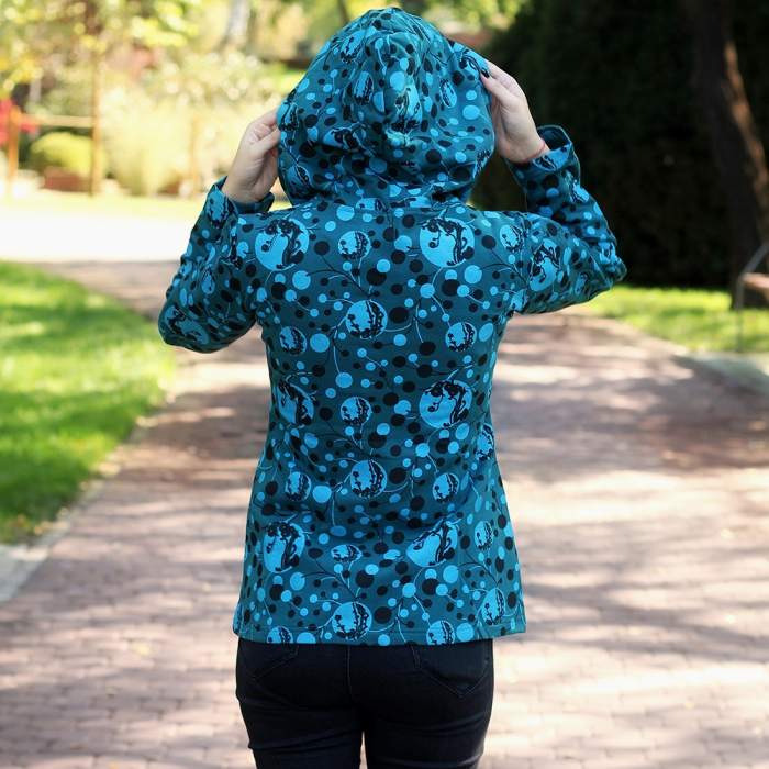 Hanorac din bumbac full print - BLUE 2