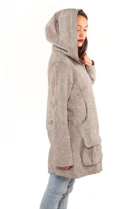 Jacheta femei din bumbac - Gri simpla 1