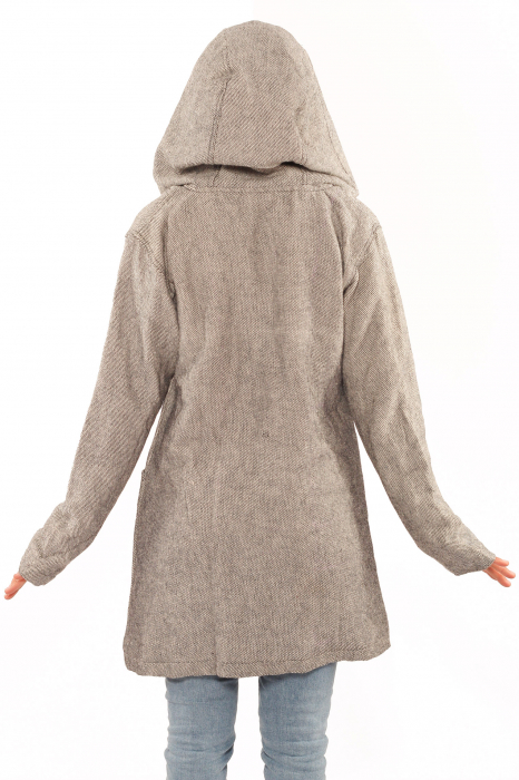 Jacheta femei din bumbac - Gri simpla 3