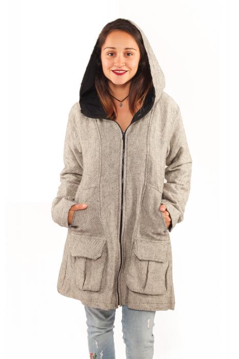 Jacheta femei din bumbac - Gri simpla 0