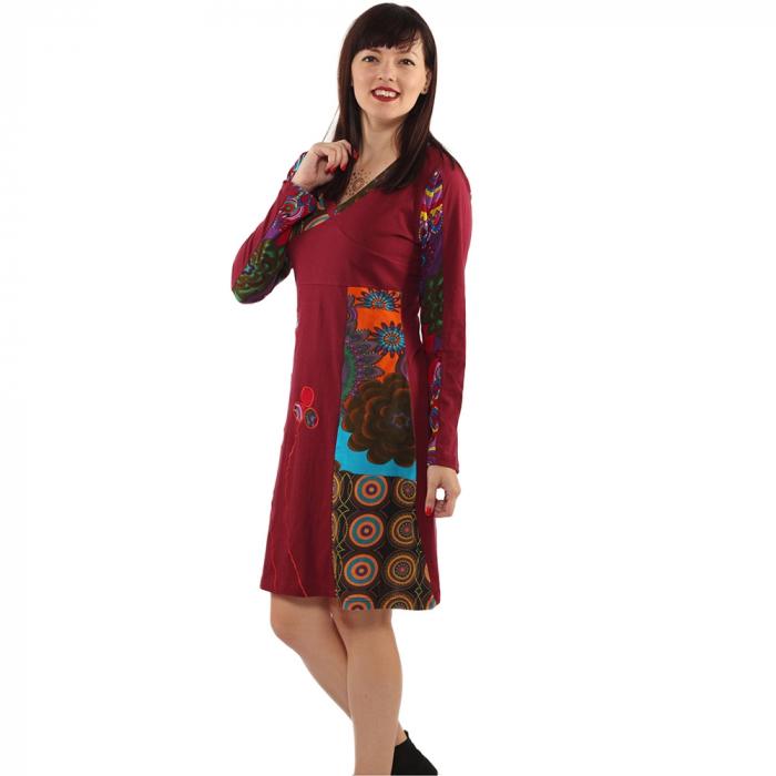 Rochie din bumbac cu maneca lunga - VISINIU 1