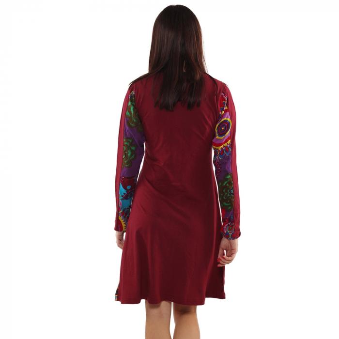 Rochie din bumbac cu maneca lunga - VISINIU 3
