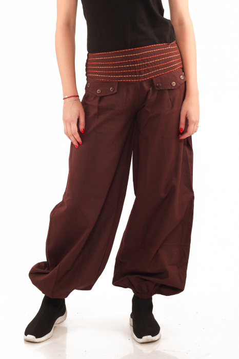 Pantaloni tip salvari - Maro [0]