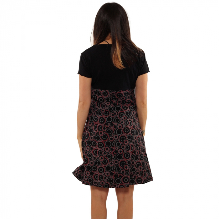 Rochie din bumbac - COLIER BRODAT [2]