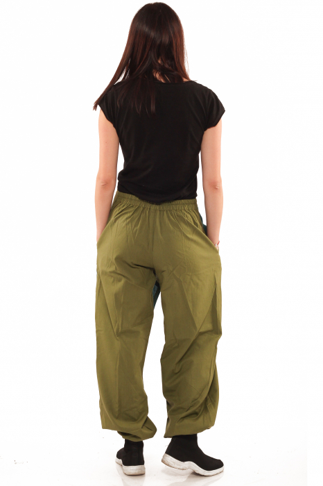 Pantalon salvar tip fusta - Verde 4