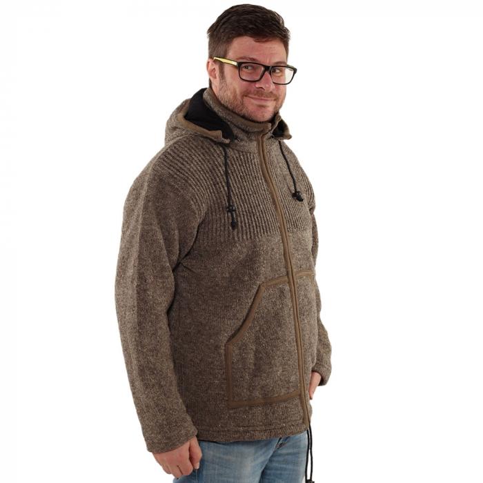 Jacheta din lana cu buzunare - GREY [0]