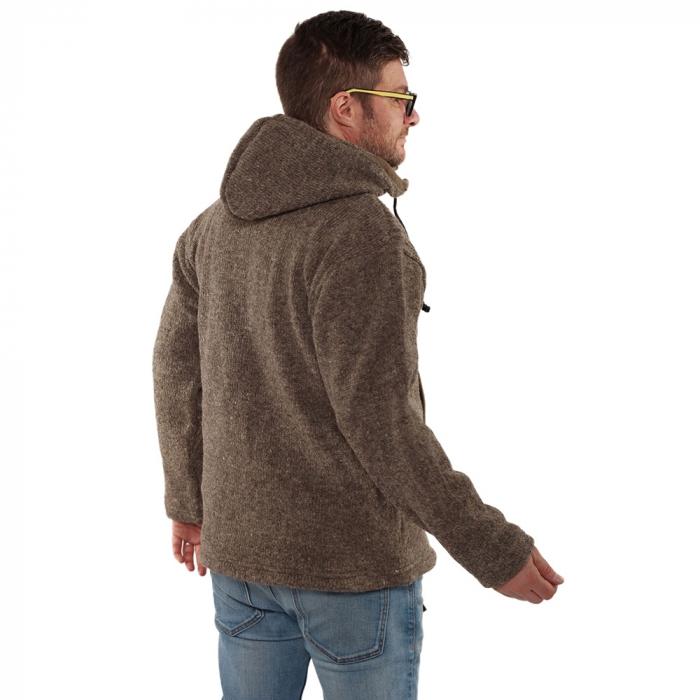 Jacheta din lana cu buzunare - GREY [1]