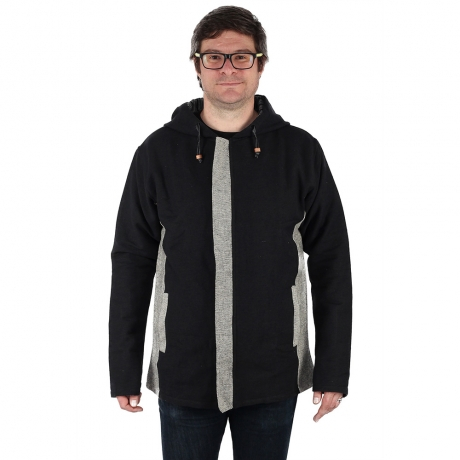 Jacheta barbateasca din bumbac - Negru Gri 0