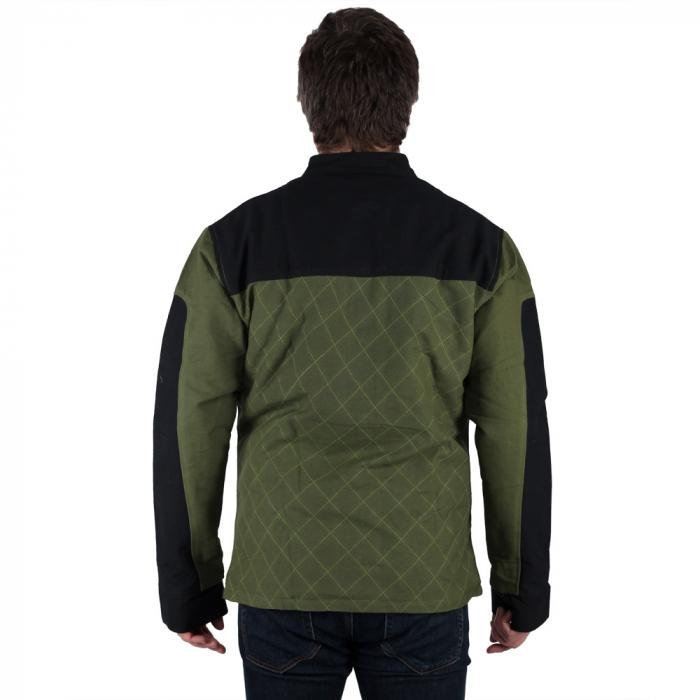 Jacheta barbateasca din bumbac, verde - Geometric 3