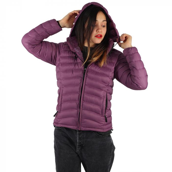 Jacheta cu puf – Violet 1