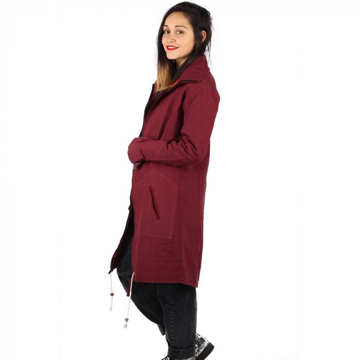 Jacheta din bumbac - BORDO 1