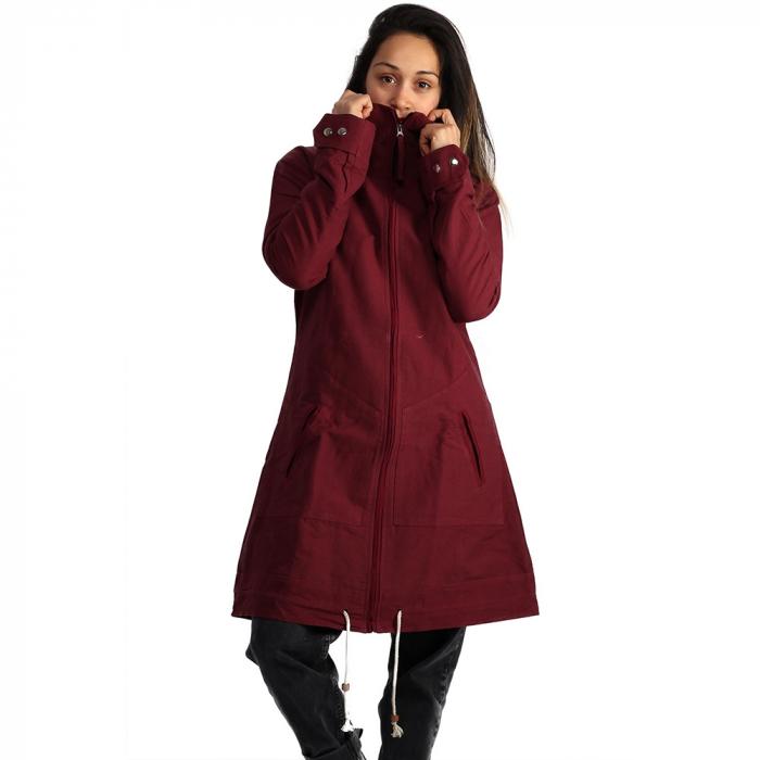 Jacheta din bumbac - BORDO 2