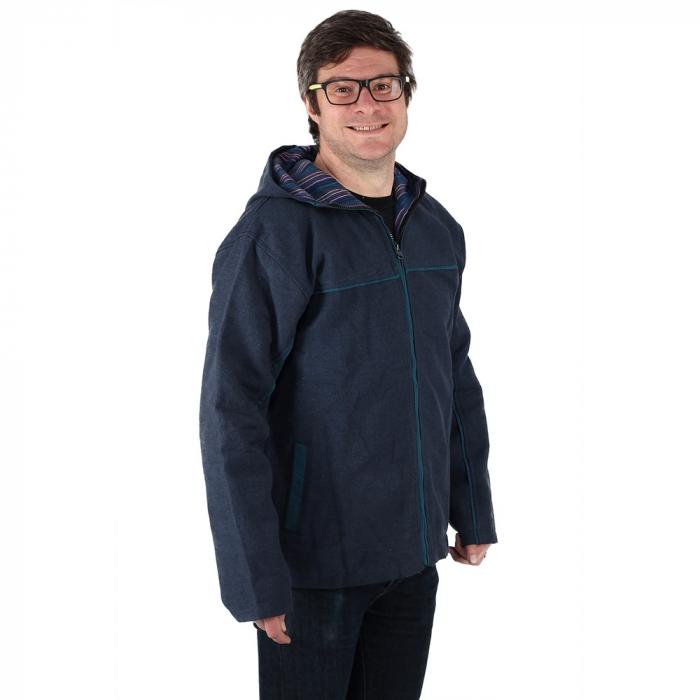Jacheta barbateasca din bumbac - Bleumarin 1