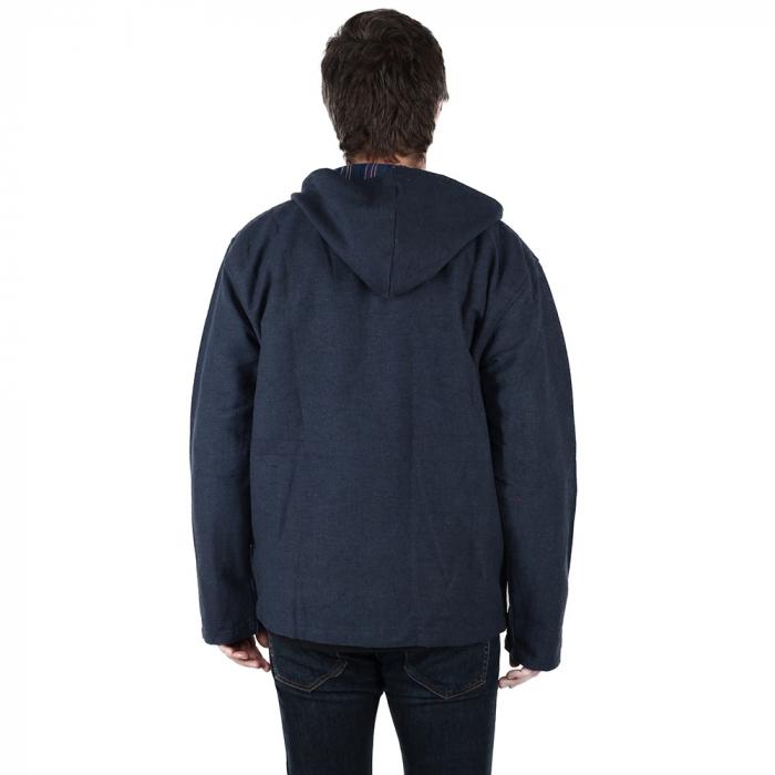 Jacheta barbateasca din bumbac - Bleumarin 2