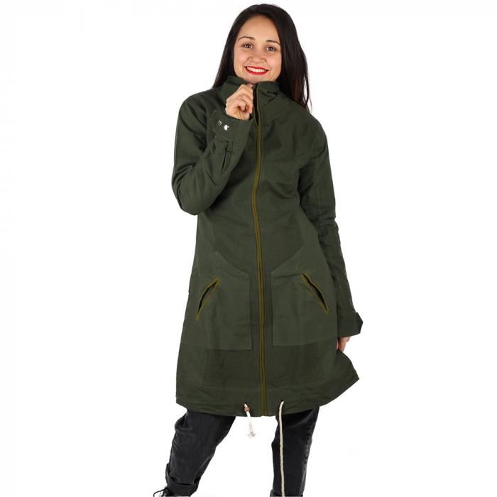 Jacheta din bumbac - VERDE 1