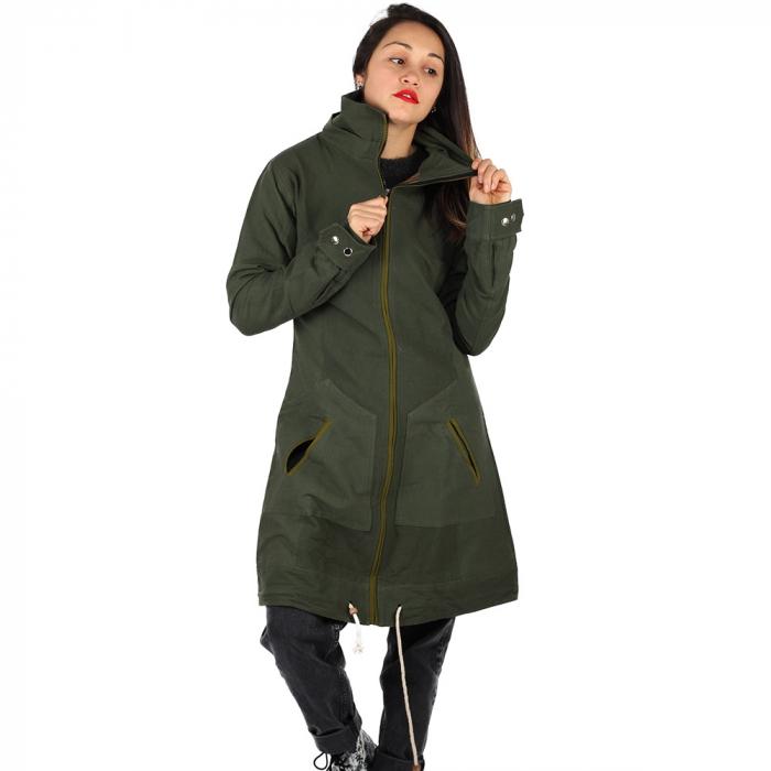 Jacheta din bumbac - VERDE 2