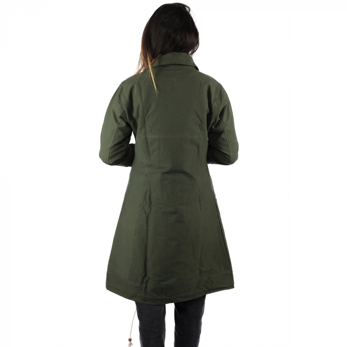 Jacheta din bumbac - VERDE 4