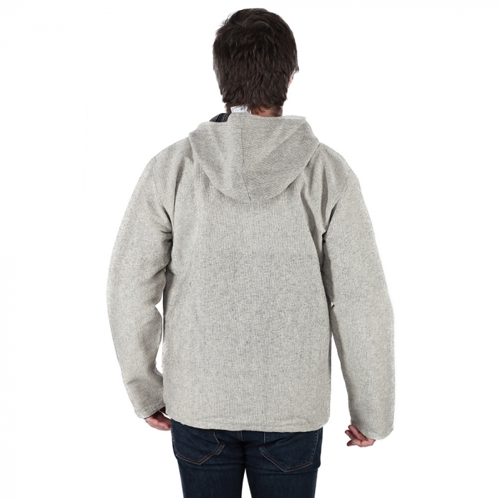 Jacheta barbateasca din bumbac - Gri 3