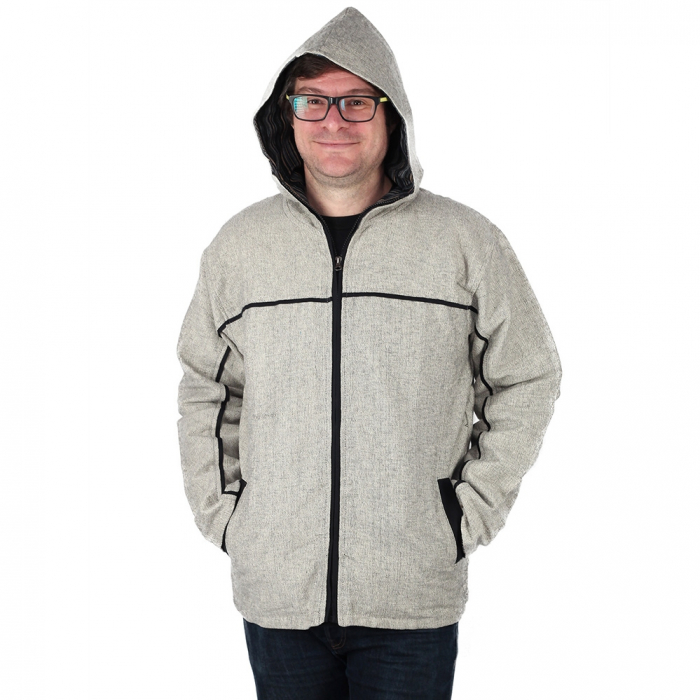 Jacheta barbateasca din bumbac - Gri 4